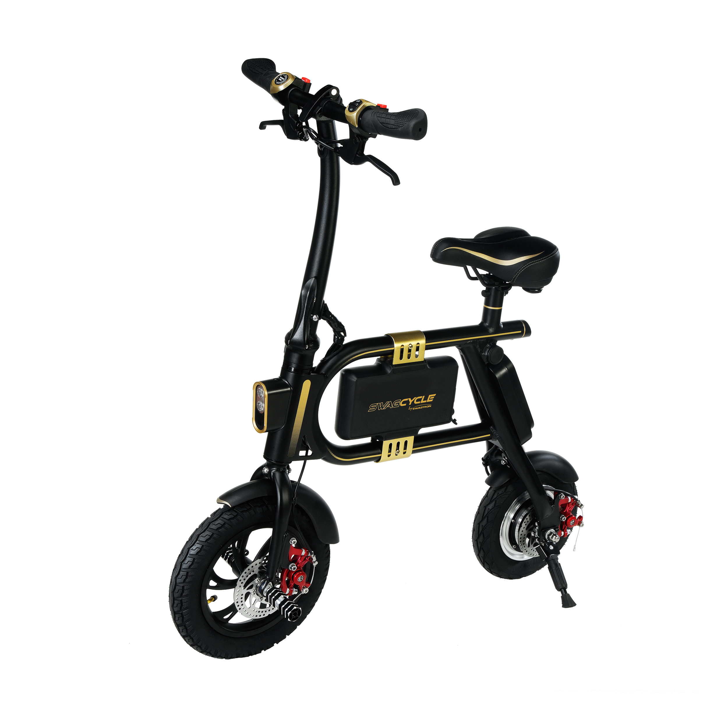 Swagtron Swagcycle E Bike Folding Electric Bicycle With 10