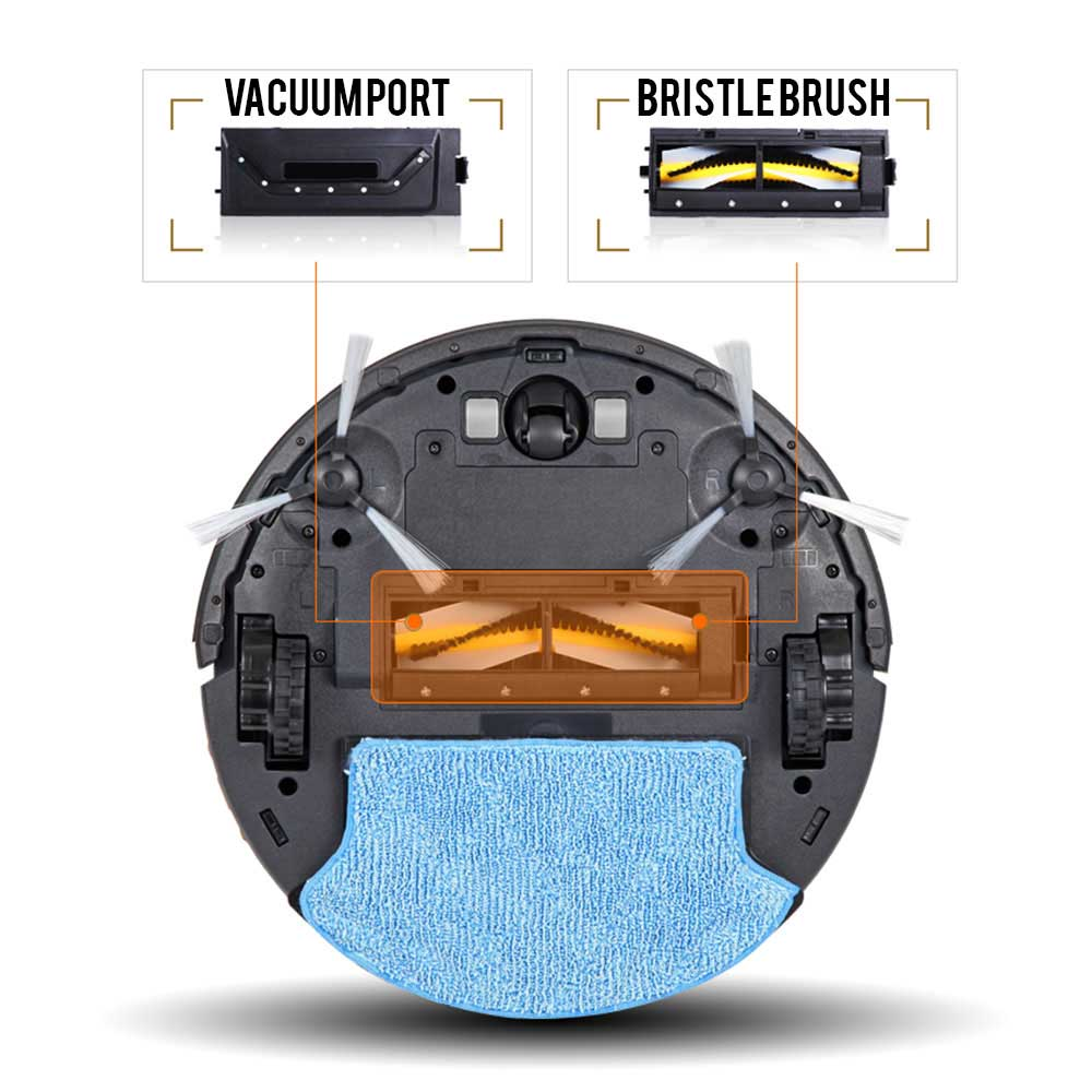 Smart Robotic Vacuum Cleaner W Mop Bagless Cordless Pet Allergy Carpet Extractor Diagram And Parts List For Bissell Wetcarpetcleaner Hepa Wi Fi