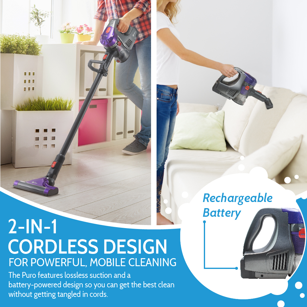Rollibot Puro100 Rechargeable Cordless Lightweight Stick
