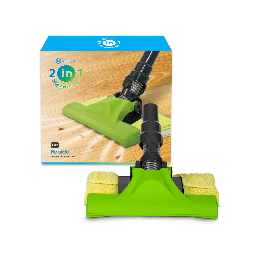 Rollibot 2in1 Microfiber Floor Mop Attachment For Rapido