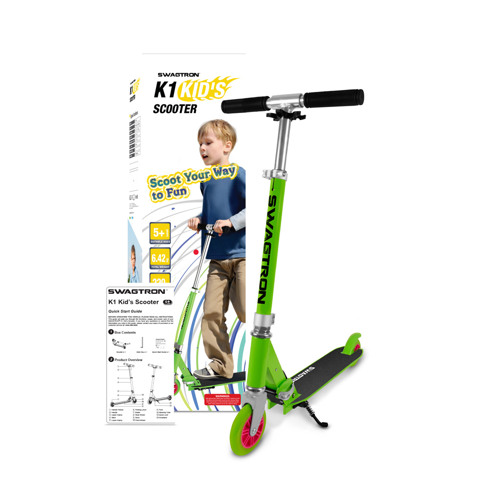 Swagtron-K1-2-Wheel-Folding-Lightweight-Aluminum-Kick-Scooter-for-Teen-Boy-Girl