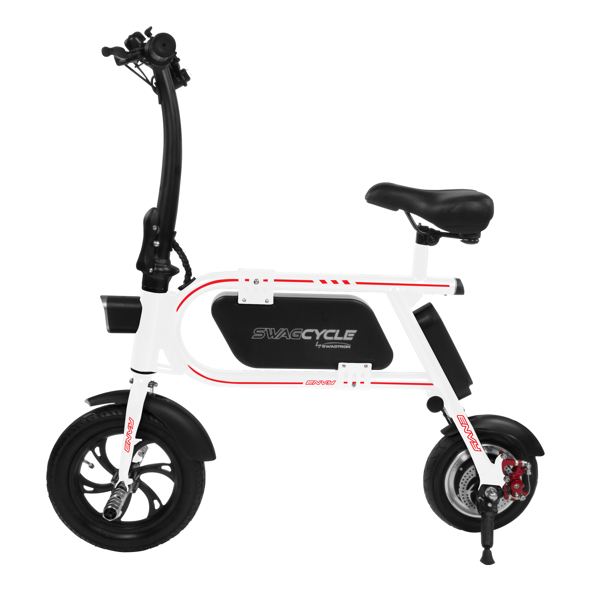 swagtron swagcycle envy aluminum frame folding e bike for. Black Bedroom Furniture Sets. Home Design Ideas