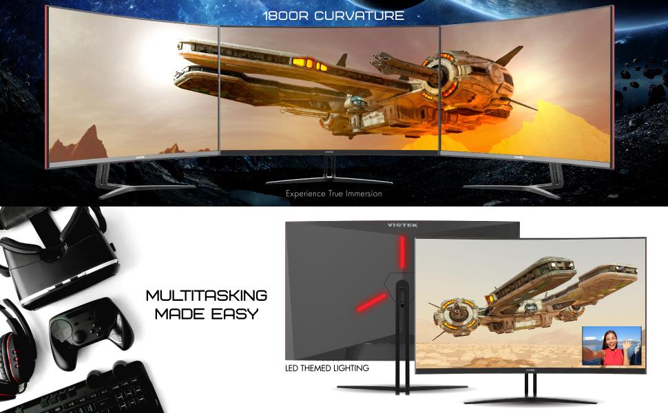 Details about VIOTEK GN32DB 32'' Curved Gaming Monitor 1440p 144Hz WQHD  Samsung VA Panel
